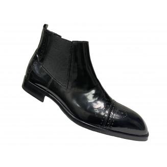 Ботинки мужские Giovanni Ciccioli черного цвета кожа