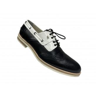 Туфли мужские Giovanni Ciccioli чёрно-белые