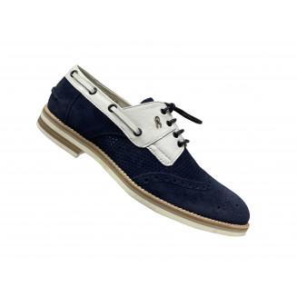 Туфли мужские Giovanni Ciccioli сине-белые