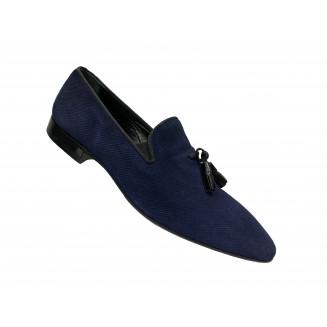 Туфли мужские Giovanni Ciccioli синие замшевые