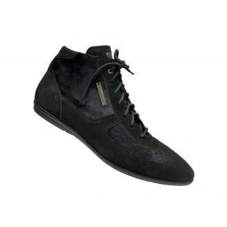 Ботинки мужские Giovanni Ciccioli черного цвета замшевые