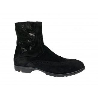 Ботинки мужские Giovanni Ciccioli черные замшевые