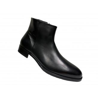Ботинки мужские Alberto Ciccioli из замши двух оттенков черного цвета