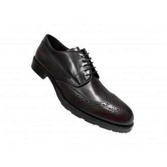 Туфли мужские Vito Della Mora белые с серыми и синими вставками