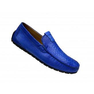 Туфли мужские Vinicio Camerlengo  синие с черными вставками
