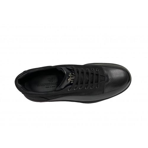 Кроссовки мужские Giampieronicola черного цвета с серыми вставками