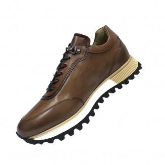 Кроссовки мужские Gianfranco Butteri  темно-коричневого цвета