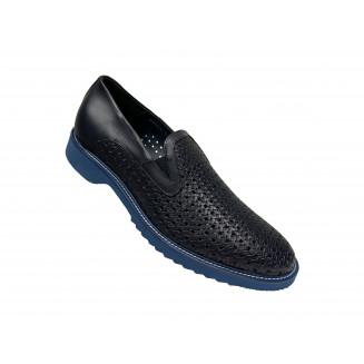 Туфли мужские Gianfranco Butteri двух оттенков синего цвета