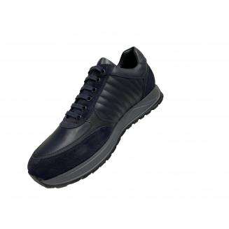 Кроссовки мужские Giampieronicola серые с черными вставками