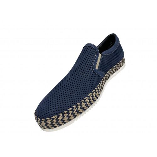 Слипоны мужские Giampieronicola синего цвета