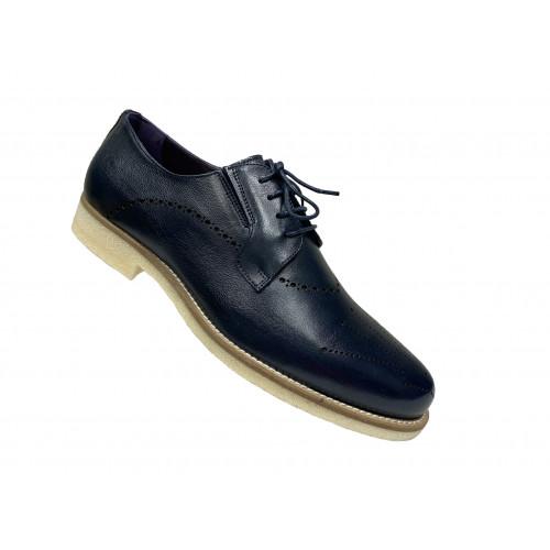 Туфли мужские Vito Della Mora синие с серой подошвой