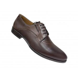 Туфли мужские Vito Della Mora белые с синими вставками