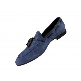 Туфли мужские Franceschetti голубого цвета