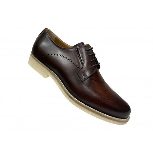Туфли мужские Vito Della Mora коричневые с серой подошвой