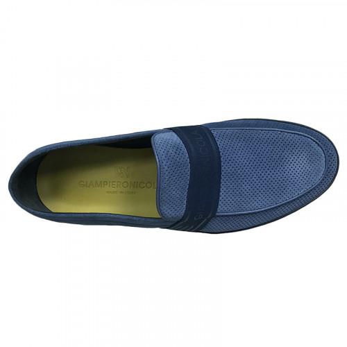 Слипоны мужские Giampieronicola тёмно-синего цвета