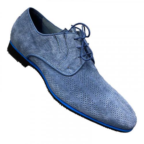Дерби мужские Vinicio Camerlengo голубые
