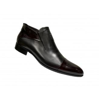 Туфли мужские Vinicio Camerlengo белые с серыми и синими вставками