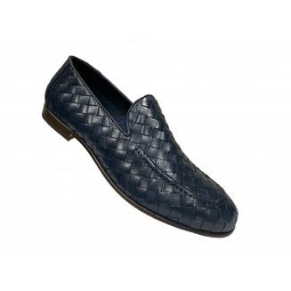 Лоферы мужские Giampieronicola темно-синего цвета
