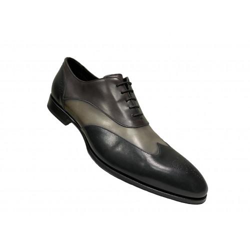 Туфли мужские Franceschetti коричневого, черного и серого цвета